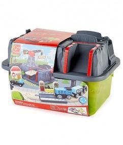 bouwset - trein bouwset - railway bucket builder set - hape - treinen - trein - speelgoedtrein - speelgoed treinbaan - E3764 - trein- speelgoed - houten speelgoed - dn houten tol - de mouthoeve - boekel