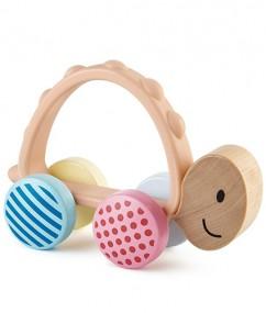 Turbo Turtle - child - baby speelgoed - baby - schildpad - houten speelgoed - speelgoed - pastel kleuren - kraamcadeau - dn houten tol - boekel - de mouthoeve - boekel - hape - E8516