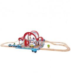 station - trein station - trein - treinen - spoorweg - speelgoed - houten speelgoed - grand city station - hape - E3725 - boekel - speelgoedwinkel - dn houten tol - de mouthoeve