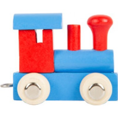 houten locomotief - lettertrein - letters - houten letters - blank houtenlettertrein - gekleurde houten lettertrein - speelgoed - houten speelgoed - kraamcadeau - dn houten tol - winkel - shop - de mouthoeve - small foot - locomotief - wagon - houten letter locomotief - locomotief rood