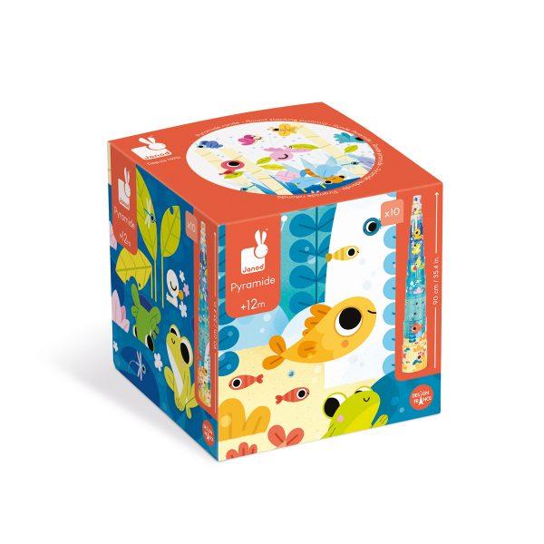 blokken - stapeltoren magische boom - stapeltoren - karton - kartonnen stapeltoren - speelgoed - educatief speelgoed - houten speelgoed - baby speelgoed - dn houten tol - de mouthoeve - boekel - shop - webshop - janod - vierkante stapelblokken - het leven in de vijver