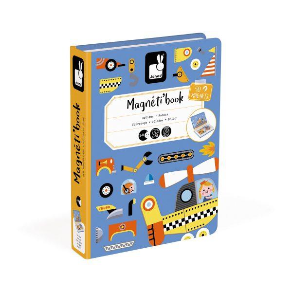 racers - voertuigen - magneetboek - magnetibook - dieren- janod - webshop - magneten - educatief speelgoed - speelgoed - houten speelgoed - dn houten tol - de mouthoeve - boekel