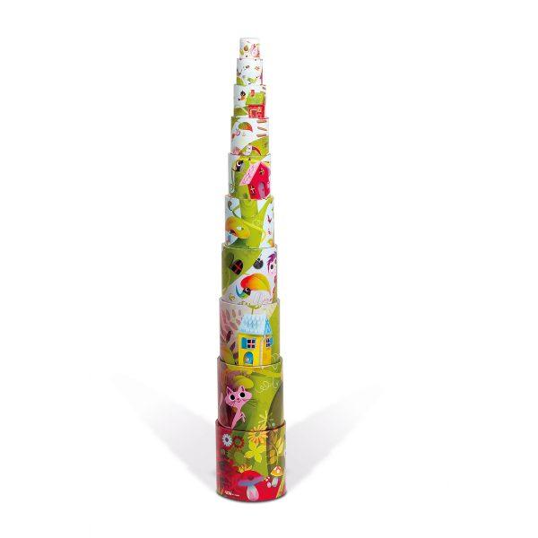 blokken - stapeltoren magische boom - stapeltoren - karton - kartonnen stapeltoren - speelgoed - educatief speelgoed - houten speelgoed - baby speelgoed - dn houten tol - de mouthoeve - boekel - shop - webshop - janod