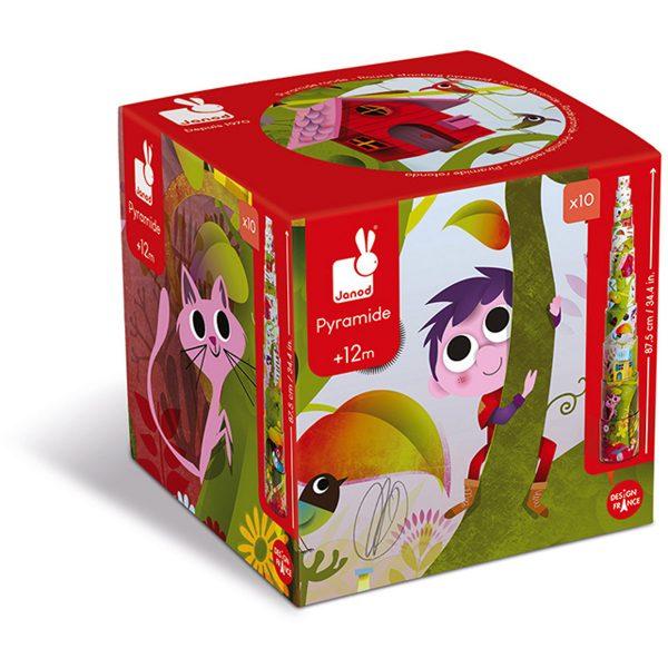 stapeltoren magische boom - stapeltoren - karton - kartonnen stapeltoren - speelgoed - educatief speelgoed - houten speelgoed - baby speelgoed - dn houten tol - de mouthoeve - boekel - shop - webshop - janod