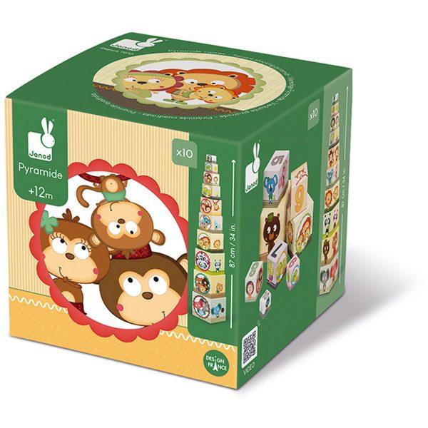 blokken - stapeltoren magische boom - stapeltoren - karton - kartonnen stapeltoren - speelgoed - educatief speelgoed - houten speelgoed - baby speelgoed - dn houten tol - de mouthoeve - boekel - shop - webshop - janod - vierkante stapelblokken - familie portretten