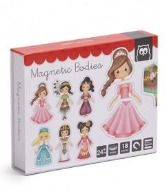speelgoed.nl - magneten - magnetische prinsessen - prinsessen - houten speelgoed - speelgoed - princess world magnets - mageneten box - boekel - dn houten tol - de mouthoeve - winkel - shop - webshop - www.speelgoed - hape