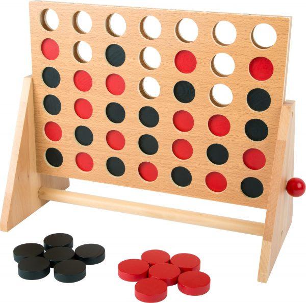 small foot - vier op een rij - hout - game - spel - houten spel - denk spel - leer spel - speelgoed - houten speelgoed - dn houten tol - de mouthoeve - boekel - shop - winkel - leerzaam