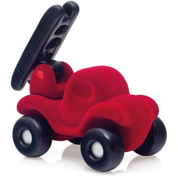 brandweerauto - rode brandweerauto - rubbabu - auto - speelgoed - baby speelgoed - cadeau - kids - kinder auto - zachte auto - houten speelgoed - dn houten tol - de mouthoeve - boekel - shop - winkel