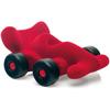 rubbabu - voertuig - baby speelgoed - rubber speelgoed - 100% natuurlijk - speelgoed - houten speelgoed - dn houten tol - de mouthoeve - boekel - shop stil speelgoed - racewagen - rood
