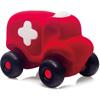 rubbabu - voertuig - baby speelgoed - rubber speelgoed - 100% natuurlijk - speelgoed - houten speelgoed - dn houten tol - de mouthoeve - boekel - shop stil speelgoed - rood - ambulance