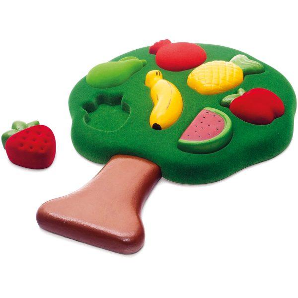 puzzel - rubbabu puzzel - rubbabu - 3D puzzel - fruit puzzel - puzzel - speelgoed - zacht speelgoed - speelgoed - houten speelgoed - dn houten tol - de mouthoeve - boekel - fruit - shop - kraamcadeau - winkel