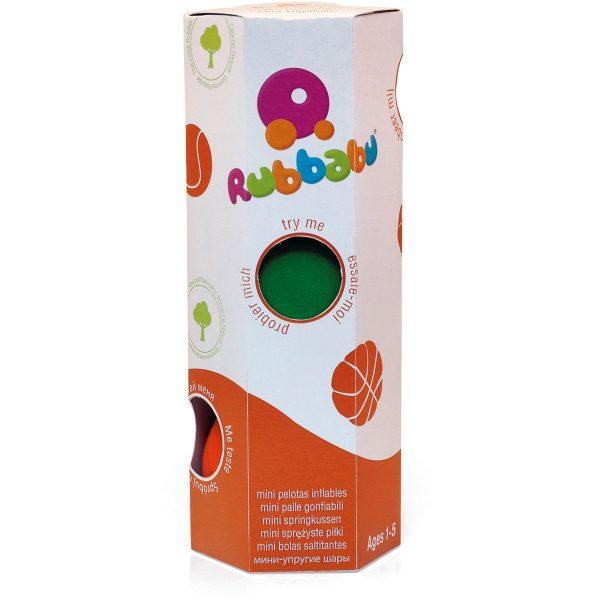 Set 3 mini sport ballen - kraamcadeau - rubbabu - voertuig - baby speelgoed - rubber speelgoed - 100% natuurlijk - speelgoed - houten speelgoed - dn houten tol - de mouthoeve - boekel - shop stil speelgoed - vliegtuig - dieren - knuffeldieren - bal - speelbal - ballen