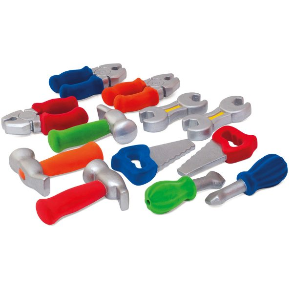 rubbabu - gereedschap - kinder gereedschap - rubber gereedschap - kleurrijk gereedschap - speelgoed - houten speelgoed - dn houten tol - de mouthoeve - boekel - shop - winkel - cadeau kind