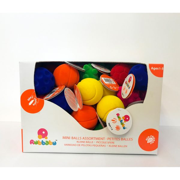 Rubbabu - bal - ballen - speel ballen - zachte bal - kleine ballen - speelgoed - houten speelgoed - dn houten tol - de mouthoeve - boekel - shop - winkel