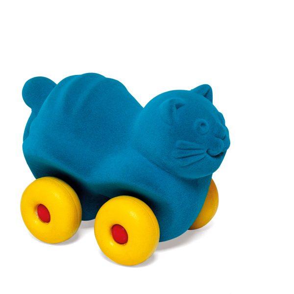 kraamcadeau - rubbabu - voertuig - baby speelgoed - rubber speelgoed - 100% natuurlijk - speelgoed - houten speelgoed - dn houten tol - de mouthoeve - boekel - shop stil speelgoed - vliegtuig - dieren - knuffeldieren - kat - poes - blauw