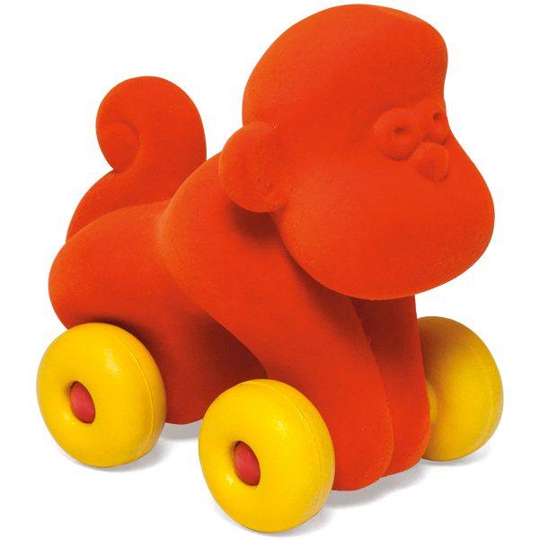 kraamcadeau - rubbabu - voertuig - baby speelgoed - rubber speelgoed - 100% natuurlijk - speelgoed - houten speelgoed - dn houten tol - de mouthoeve - boekel - shop stil speelgoed - vliegtuig - dieren - knuffeldieren - aap - oranje