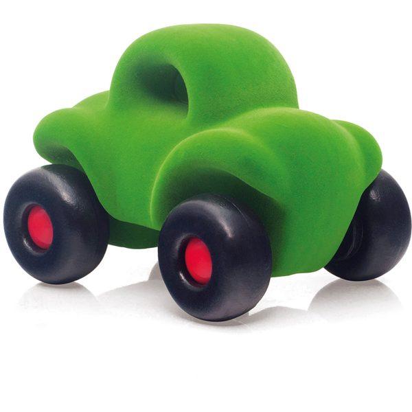 rubbabu - voertuig - baby speelgoed - rubber speelgoed - 100% natuurlijk - speelgoed - houten speelgoed - dn houten tol - de mouthoeve - boekel - shop stil speelgoed - racewagen - rood - speelgoed - zacht speelgoed - auto - groene auto - buggy