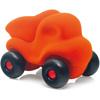 rubbabu - voertuig - baby speelgoed - rubber speelgoed - 100% natuurlijk - speelgoed - houten speelgoed - dn houten tol - de mouthoeve - boekel - shop stil speelgoed - racewagen - rood - speelgoed - zacht speelgoed - auto - oranje kiepauto - kiepwagen