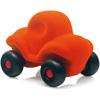 rubbabu - voertuig - baby speelgoed - rubber speelgoed - 100% natuurlijk - speelgoed - houten speelgoed - dn houten tol - de mouthoeve - boekel - shop stil speelgoed - racewagen - rood - speelgoed - zacht speelgoed - auto - oranje auto