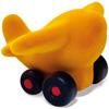 rubbabu - voertuig - baby speelgoed - rubber speelgoed - 100% natuurlijk - speelgoed - houten speelgoed - dn houten tol - de mouthoeve - boekel - shop stil speelgoed - vliegtuig - geel - geel vliegtuig