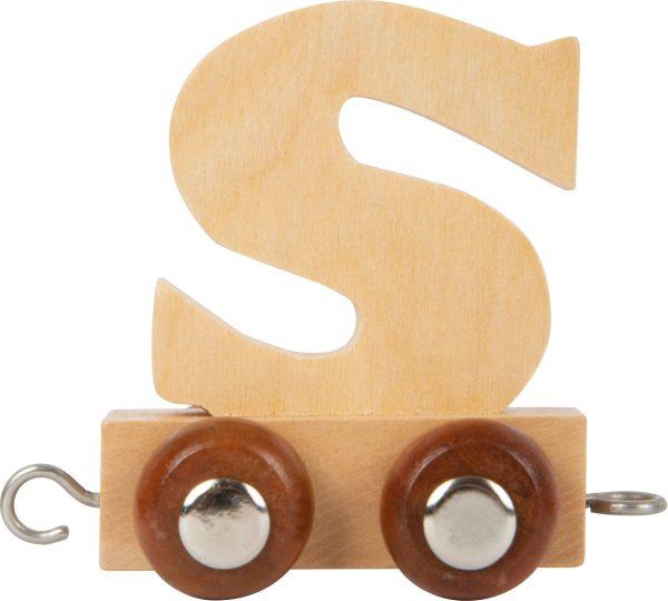lettertrein - letters - houten letters - blank houtenlettertrein - gekleurde houten lettertrein - speelgoed - houten speelgoed - kraamcadeau - dn houten tol - winkel - shop - de mouthoeve - small foot