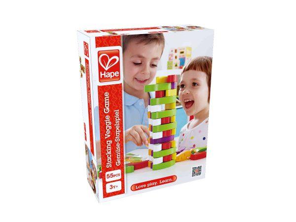 E1008 - stapel spel - stacking veggie game - hape - groenten stapelspel - spel - spellen - kinder spel - speelgoed - houten speelgoed - dn houten tol - de mouthoeve - boekel - shop - winkel