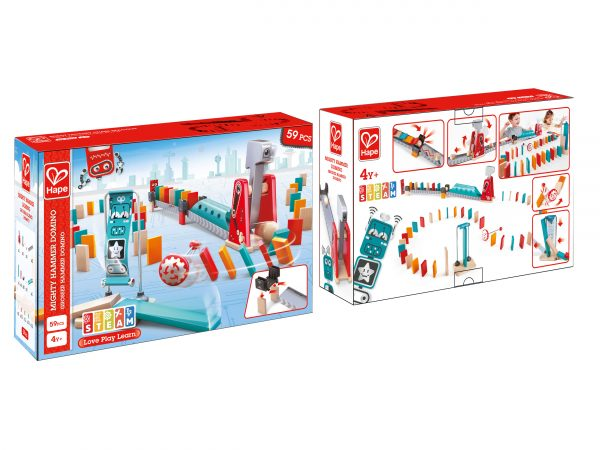 spellen - kinder spellen - zippy zebra - hape - spelletjes - games - speelgoed - houten speelgoed - dn houten tol - de mouthoeve - boekel - Mighty Hammer Domino - domino