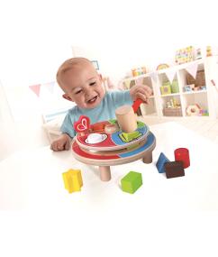 Hamer draaischijf - spin animal punder - hape - speelgoed - houten speelgoed - peuter - kleuter - dn houten tol - shop - webshop - winkel - de mouthoeve - boekel - E8017