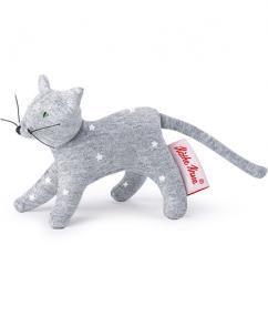 kathe Kruse - knuffel - kat - poes - stippen - 0178373 - speelgoed - houten speelgoed - baby speelgoed - dn houten tol - de mouthoeve - boekel - shop - mini grabbing toy cat grey