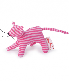 kathe Kruse - knuffel - kat - poes - stippen - 0178371 - speelgoed - houten speelgoed - baby speelgoed - dn houten tol - de mouthoeve - boekel - shop - mini grabbing toy cat gestreept roze
