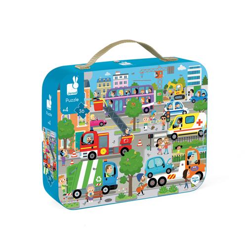 De Stad - Janod Puzzel - Zeemeerminnen - puzzel - puzzel in koffer - meisjes puzzel - kinder puzzel - kartonnen puzzel - speelgoed - educatief speelgoed - houten speelgoed - dn houten tol - de mouthoeve - boekel - shop - winkel - speelgoedwinkel boekel - janod