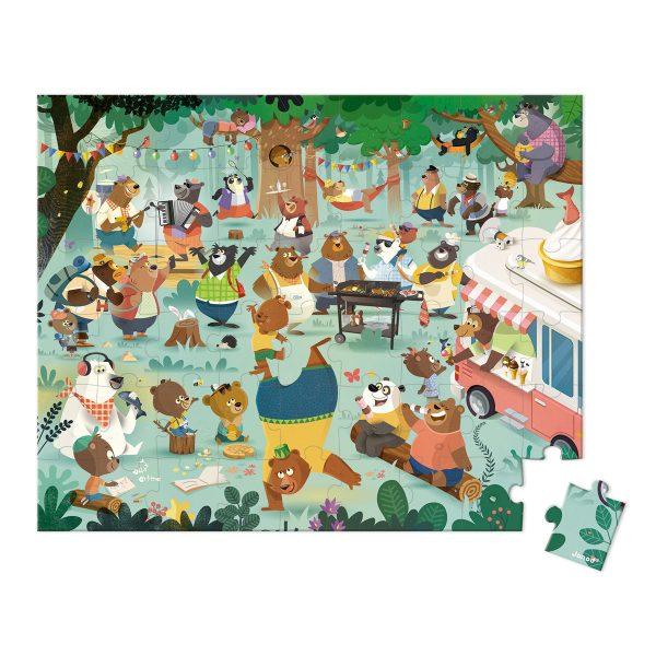 de berenfamilie - puzzel de berenfamilie - Janod Puzzel - puzzel - puzzel in koffer - meisjes puzzel - jongens puzzel -kinder puzzel - kartonnen puzzel - speelgoed - educatief speelgoed - houten speelgoed - dn houten tol - de mouthoeve - boekel - shop - winkel - speelgoedwinkel boekel - janod