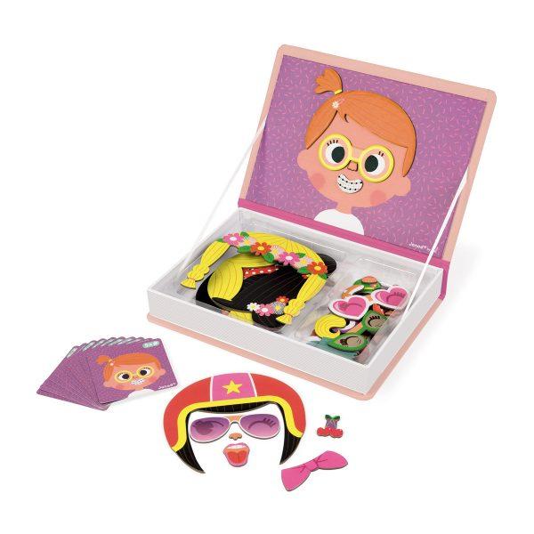 magneetboek - magnetibook -prinsessen - janod - webshop - magneten - educatief speelgoed - speelgoed - houten speelgoed - dn houten tol - de mouthoeve - boekel - verkleedfeest - meisjes - prinsessen - verjaardags cadeau kind - gekke gezichten magneten