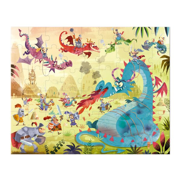 draken - puzzel draken - Janod Puzzel - puzzel - puzzel in koffer - meisjes puzzel - jongens puzzel -kinder puzzel - kartonnen puzzel - speelgoed - educatief speelgoed - houten speelgoed - dn houten tol - de mouthoeve - boekel - shop - winkel - speelgoedwinkel boekel - janod