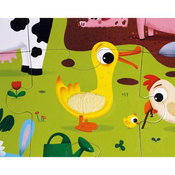 puzzel - voel puzzel - dieren puzzel - boerderij puzzel - puzzel in doos - kartonnen puzzel - kinder puzzel - educatief speelgoed - speelgoed - houten speelgoed - dn houten tol - de mouthoeve - boekel - shop - janod - dieren - Voelpuzzel - Boerderijdieren