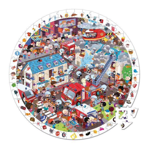 puzzel - puzzel jungle - Janod Puzzel - Panorama jungle - janod - dieren puzzel - bos puzzel - dieren in de jungle - speelgoed - houten speelgoed - educatief speelgoed - dn houten tol - de mouthoeve - boekel - puzzel in koffer - ronde puzzel