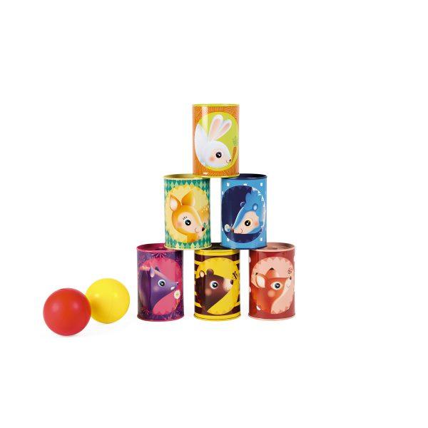 familie spel - gezins spel - Janod Spel - Croquet bosdieren - dieren spel - houten spel - buiten spel - Croquet - speelgoed - houten speelgoed - educatief speelgoed - buiten speelgoed - dn houten tol - de mouthoeve - boekel - ballen gooien - blikken - schuimballen