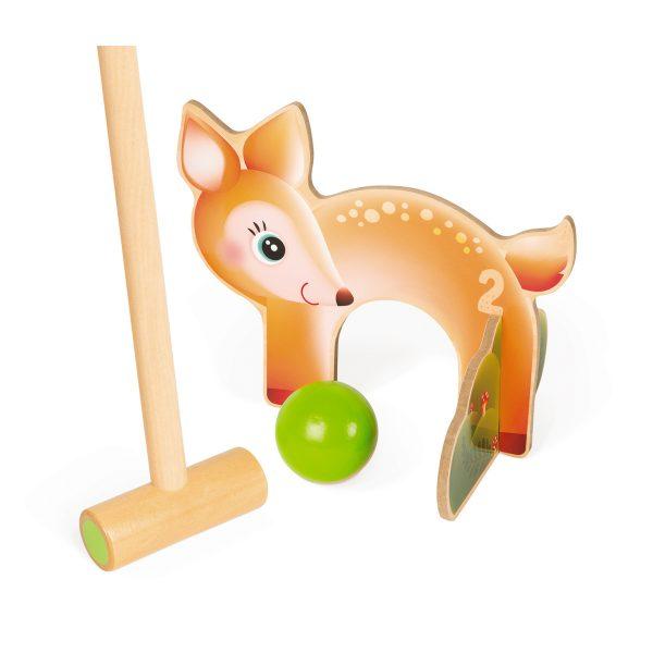 familie spel - gezins spel - Janod Spel - Croquet bosdieren - dieren spel - houten spel - buiten spel - Croquet - speelgoed - houten speelgoed - educatief speelgoed - buiten speelgoed - dn houten tol - de mouthoeve - boekel