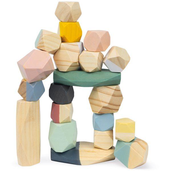 Janod Sweet Cocoon - Stapelstenen - houten stenen - houten stapel stenen - janod - speelgoed - houten speelgoed - educatief speelgoed - blokken - dn houten tol - de mouthoeve - boekel - speelgoedwinkel boekel - shop - webshop