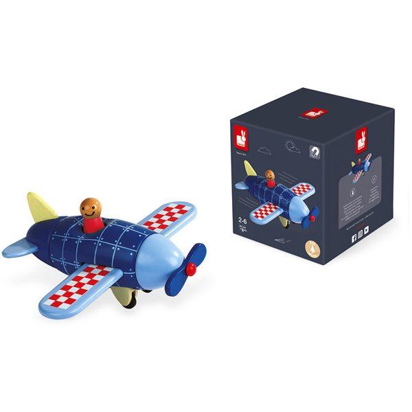 kinder vliegtuig - speelgoed vliegtuig - magneten vliegtuig - vliegtuig - janod - speelgoed - educatief speelgoed - houten speelgoed - dn houten tol - de mouthoeve - boekel - shop - winkel - kinder speelgoed - magneet - magnetisch