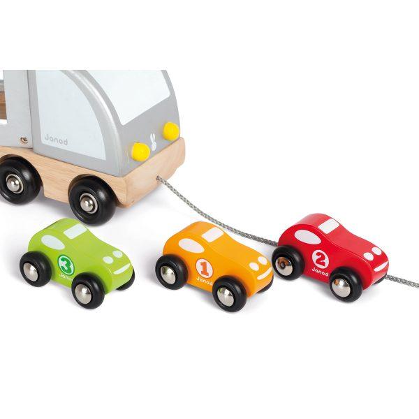 vrachtwagen - houten vrachtwagen - speelgoed vrachtwagen - houten auto's - speelgoed autootjes - speelgoed - houten speelgoed - educatief speelgoed - dn houten tol - kinder speelgoed - de mouthoeve - boekel - shop - winkel - janod
