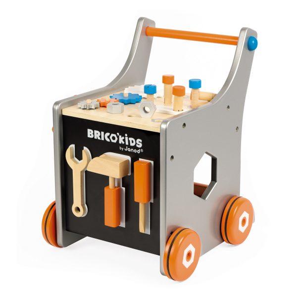 Janod Brico''kids - DIY magnetische trolley - activety center - houten speelgoed - dreumes - peuter - Magnetische trolley - kinder gereedschap - speelgoed - houten speelgoed - educatief speelgoed - dn houten tol - de mouthoeve - boekel