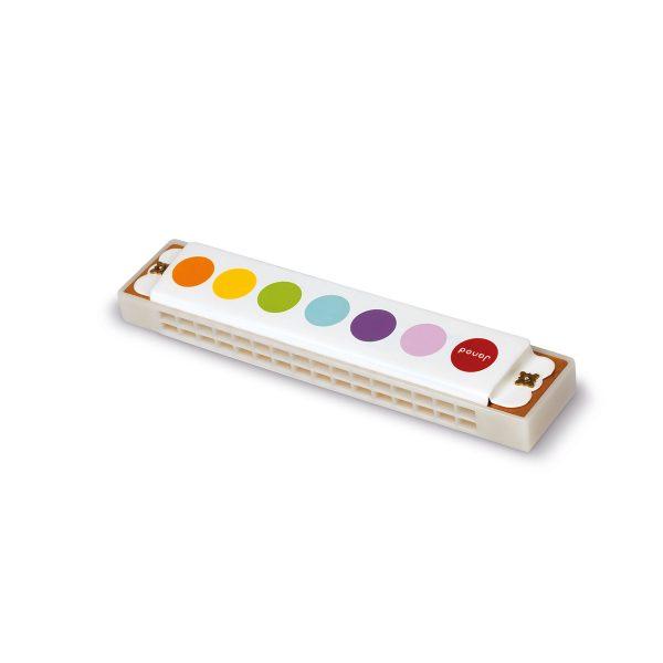 Janod Confetti - Mondharmonica - muziek - muziekinstrument - kinder instrument - kinder mondharmonica - speelgoed - educatief speelgoed - houten speelgoed - dn houten tol - de mouthoeve - boekel -shop - winkel - janod
