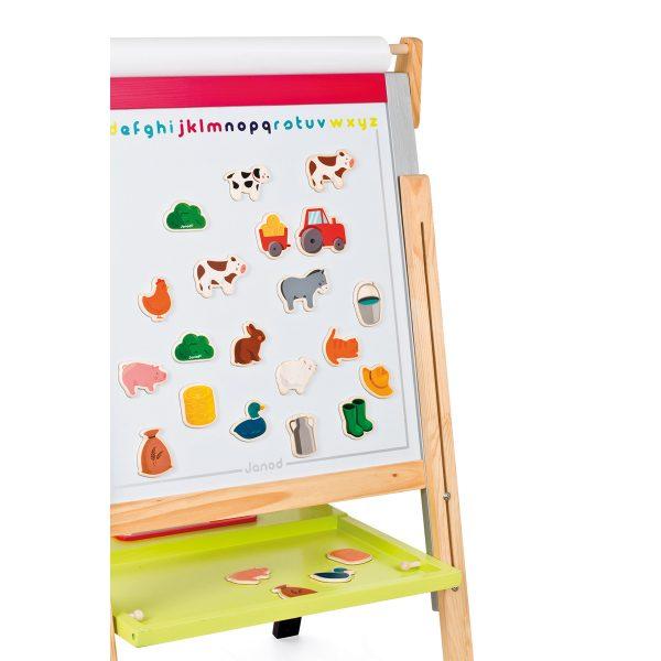 magneten - boerderij dieren - boerderij magneet dieren - educatief speelgoed - speelgoed - houten speelgoed - verjaardag cadeau kind - dn houten tol - de mouthoeve - boekel - janod - dieren - kip - koe -varken - tractor - eend - konijn - poes - ezel - hond