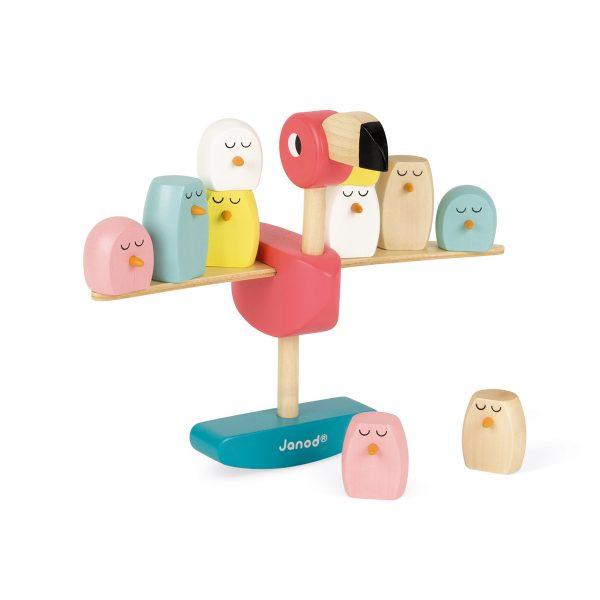 educatief speelgoed - Janod Zigolos - Evenwichtsspel flamingo - spel - houten spel - spellen - kinder spel - spelletjes - kinder spelletjes - dn houten tol - de mouthoeve - boekel - shop - winkel - janod