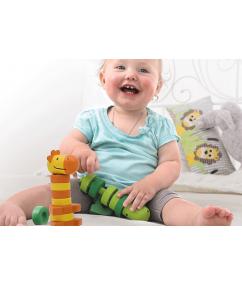 Houten stapel dieren - hout - Stacking Friends - beleduc - speelgoed - houten speelgoed - educatief speelgoed - motoriek - speelgoedwinkel boekel - dn houten tol - de mouthoeve