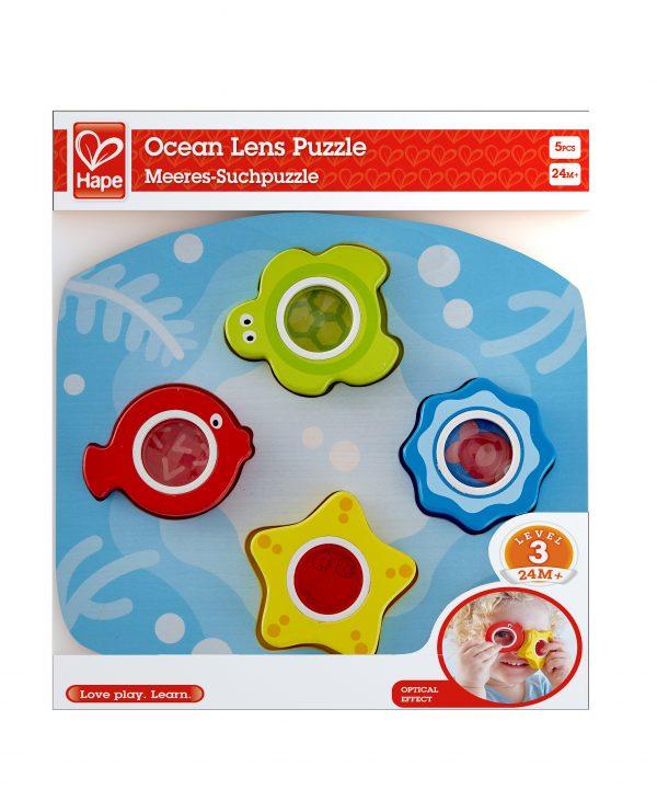 puzzel - oceaan lens puzzel - Ocean Lens Puzzle - kleurrijke puzzel - speelgoed - houten speelgoed - educatief speelgoed - dn houten tol - de mouthoeve - speelgoedwinkel boekel - hape - E1617
