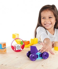 blokken - Curious Creator Kit - Kleurrijke houten bouwblokken 40-delig - houten blokken - speelgoed - houten speelgoed - educatief speelgoed - hape - 11873 - dn houten tol - de mouthoeve - speelgoedwinkel boekel