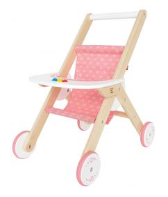 poppen buggy - poppen wagen - speelgoed - houten speelgoed - educatief speelgoed - dn houten tol - hape - E3603 - de mouthoeve - speelgoedwinkel boekel