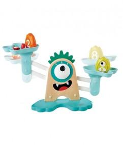 weegschaal - Monster Math Scale - monster weegschaal - leerzaam - wegen - speelgoed - houten speelgoed - educatief speelgoed- dn houten tol - de mouthoeve - speelgoedwinkel boekel - hape - monsters